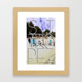 Summerholiday near St. Tropez Framed Art Print