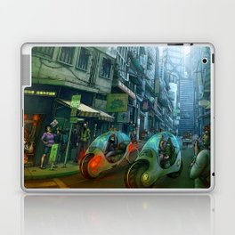 GREEN ROAD  -  city street scene Laptop & iPad Skin