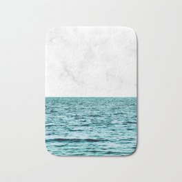 Ocean + Marble || #society6 #decor #buyart Bath Mat