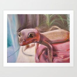 Patternless Leopard Gecko Art Print