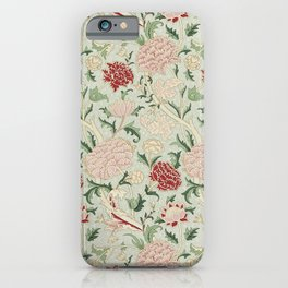 William Morris Cray Floral Pre-Raphaelite Vintage Art Nouveau Pattern iPhone Case