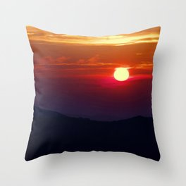 Great Smoky Mountain Sunset Throw Pillow