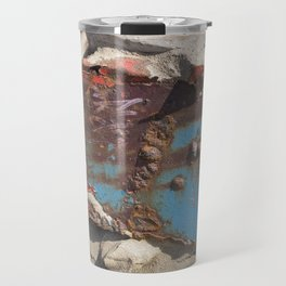 COLLAGE OF DECAY BOAT WRECK ABSTRACT Travel Mug