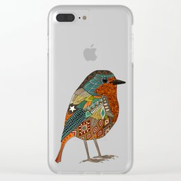 robin gold Clear iPhone Case