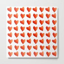 Red Heart Sprinkles Metal Print