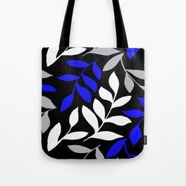 BLUE leaf Black leaf  Gray leaf Pattern Tote Bag
