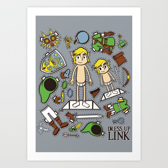 Dress up Link Art Print