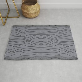 Crashing Waves - Diffuse Abstract Ocean Grey Rug