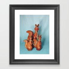 Wooden Squirrel Bondage Family Framed Art Print