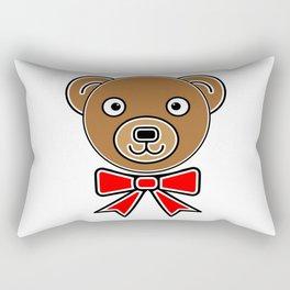 Funny bear face Rectangular Pillow