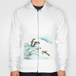 Jumping Penguins - Watercolor Hoody