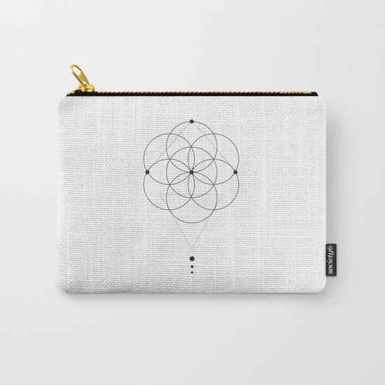 Seed Of Life Geometry White Carry-All Pouch