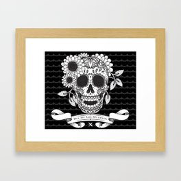 Skull with a pitch of sugar Framed Art Print