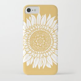 Yellow Sunflower Drawing iPhone Case