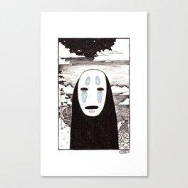 No Face Canvas Print