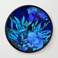 iris Wall Clocks featuring Iris by lillianhibiscus