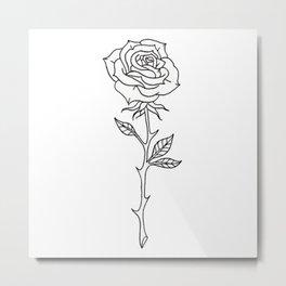 Rose Stem Illustrations Metal Print