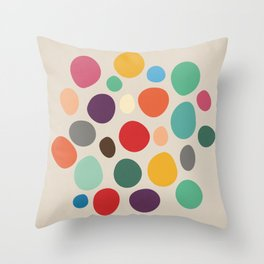 Colorful Abstract Pebbles Throw Pillow