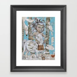 WINTER CENTAUR Framed Art Print