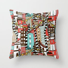 The City of Towers Throw Pillow