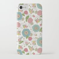 manchester iPhone & iPod Cases featuring Manchester floral by Silvia Dekker