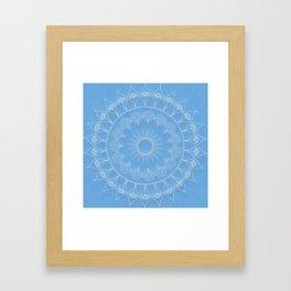Mandala Winter Kukka Framed Art Print