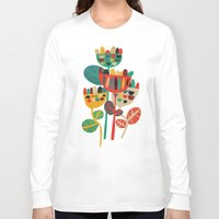 retro Long Sleeve T-shirts featuring Wild Flowers by Picomodi
