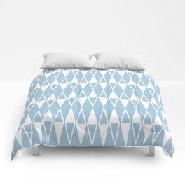 Mid Century Modern Diamond Pattern Pale Blue 234 Comforters