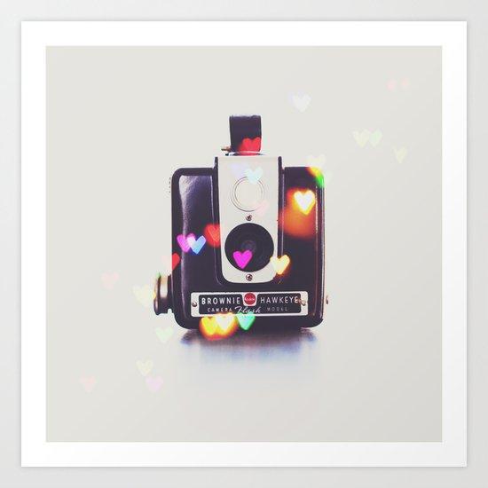 Heart Brownie Hawkeye  Art Print
