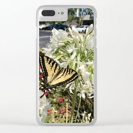 Admiration: Butterfly Clear iPhone Case