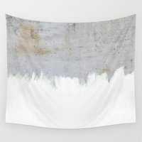 concrete Wall Tapestries featuring Painting on Raw Concrete by cafelab