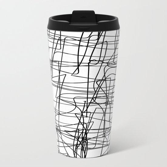 Mind Map Metal Travel Mug