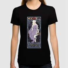Amalthea Nouveau - The Last Unicorn Womens Fitted Tee MEDIUM Black