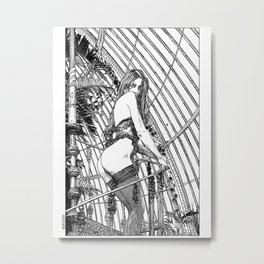 asc 318 - La dame de voyage (The starship escort girl) Metal Print