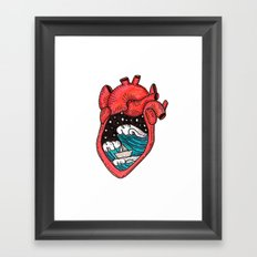 Heart Sea Framed Art Print