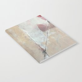 Cupid's Arrow: a minimal, abstract piece in pinks and white Notebook