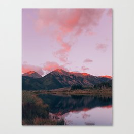 Candy Sunrise at Twin Lakes Canvas Print