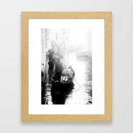 Gondoliers in Venice Framed Art Print