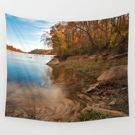 Autumn Susquehanna River Wall Tapestry