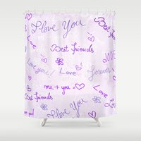 best friends Shower Curtains featuring Best Friends by Fine2art