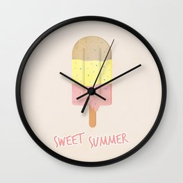 Summer Ice Cream Wall Clock