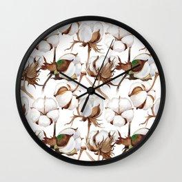 Cotton Flower Pattern 02 Wall Clock