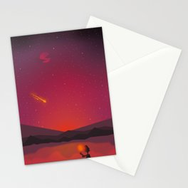 A shooting star Stationery Cards
