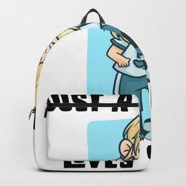 Girl Loves Football Backpack
