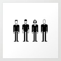 u2 Art Prints featuring U2 by Band Land