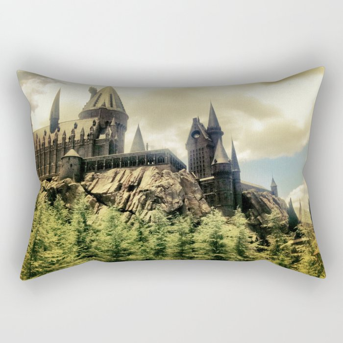 Hogwarts School of Witchcraft and Wizadry  Rectangular Pillow