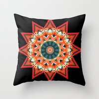 southwest Throw Pillows featuring Southwest Kaleidoscope  by North 10 Creations