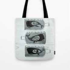 Whale in a Bottle | triptych Tote Bag