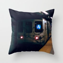 NYC Subway 35mm film Throw Pillow