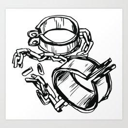 Broken Chains Art Print